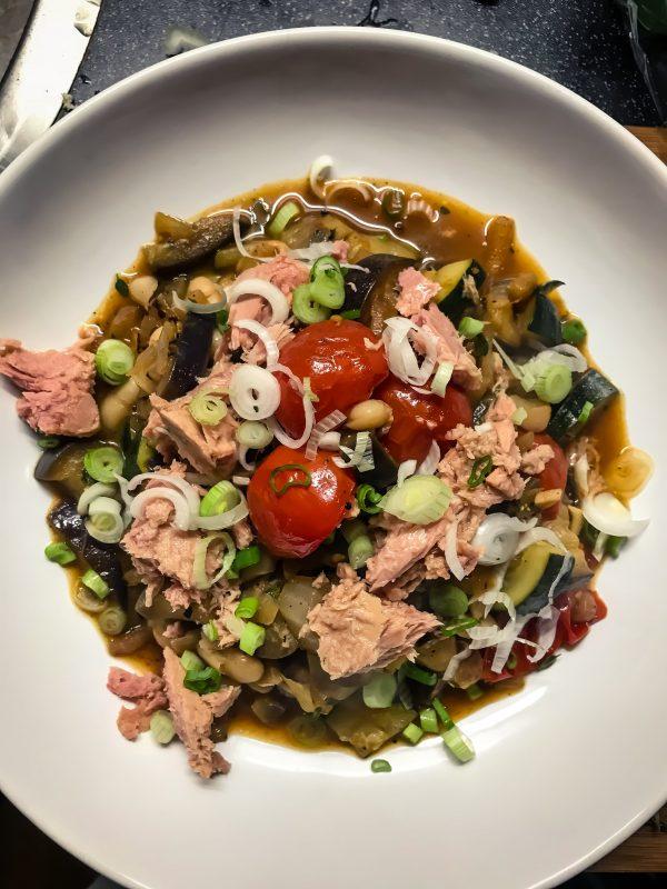 Groentestoof met tonijn